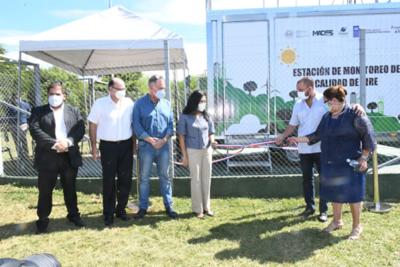 Mades inauguró la primera estación de monitoreo de calidad del aire del Paraguay