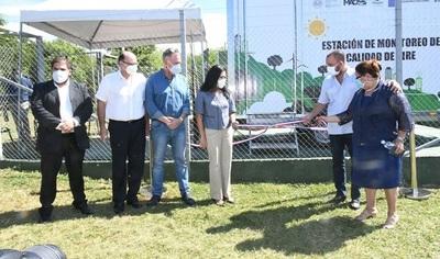 Inauguran primera estación de monitoreo de calidad del aire del Paraguay