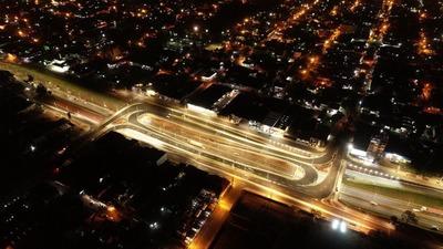 Multiviaducto de CDE: Realizan prueba de luces en puentes y colectoras