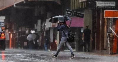 Alerta meteorológica: lluvias con tormentas eléctricas