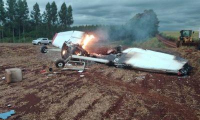 Dos muertos tras caída de avioneta en Naranjal