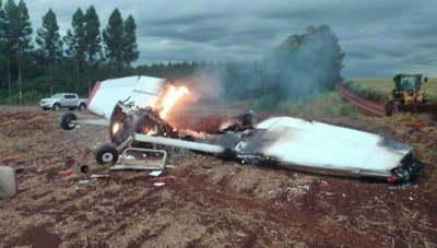 Dos fallecidos tras caída de avioneta en Naranjal
