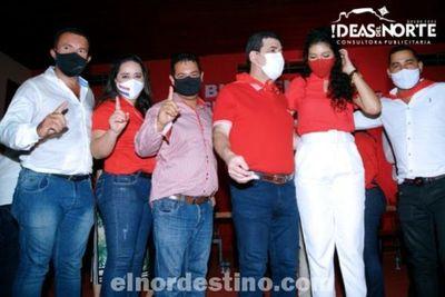 Concordia Colorada presentó sus precandidatos a la Intendencia y Junta Municipal de Pedro Juan Caballero en la Seccional Nro. 217