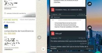 La Nación / Denuncian supuesta venta de exámenes de ingreso a Economía