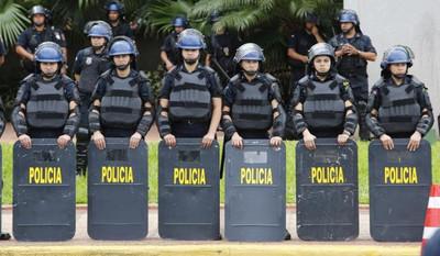 Ante manifestaciones, Policía Nacional establece alerta de seguridad del 100%