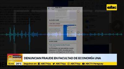 Denuncian fraude en la Facultad de Economía de la UNA