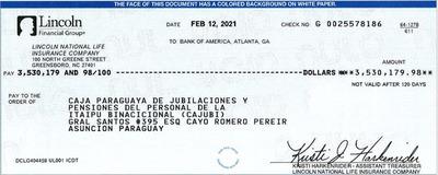 Cajubi recupera USD 3.530.179 producto de inversiones fraudulentas realizadas en 2007