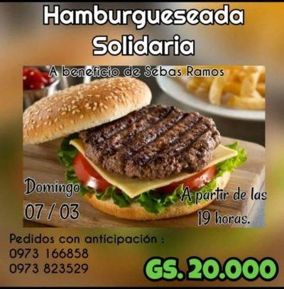 Preparan hamburguesa solidaria para costear gastos médicos