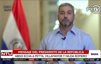 Cambios en Gabinete: Abdo echa a Petta, Villamayor y Nilda Romero