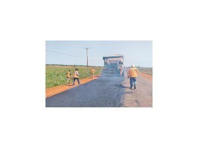 Nuevo asfaltado de un  tramo de 20 km en el Guairá llega al 99,94% de ejecución