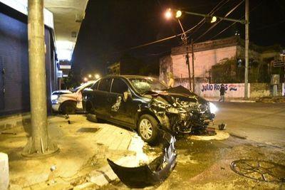 Un hombre quedó inconsciente tras choque en Asunción