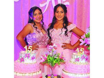 Araceli y Aramí festejaron sus quince años
