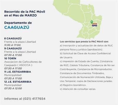 PAC Móvil brinda desde hoy sus servicios gratuitos en Caaguazu