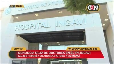 Denuncian falta de médicos en el IPS INGAVI