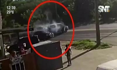 Asunción: Millonario asalto a policías sobre la Avda. Madame Lynch