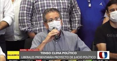 PLRA impulsará pedido de juicio político contra Abdo y Velázquez