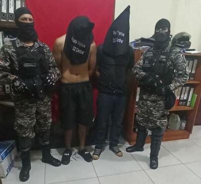 """""""Motochorros"""" fueron detenidos tras asalto a farmacia de Capiatá"""