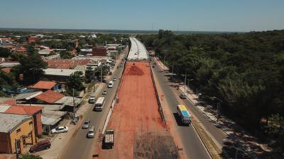 Corredor Vial Botánico: avanza obras para la rampa de descenso del viaducto de 1.340 metros