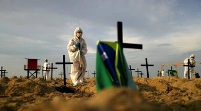 En las últimas 24 horas Brasil registró un nuevo récord de muertes diarias por Covid-19 con 1.972 fallecidos