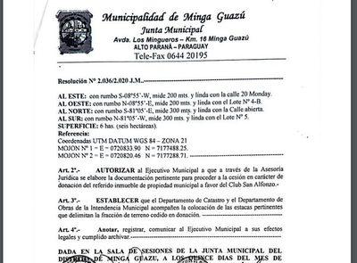 Regalan 6 hectáreas de terreno municipal a liberales lacayos de Digno Caballero