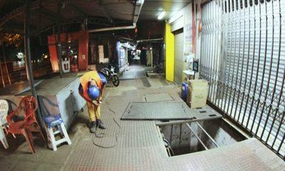 Avanzan obras subterráneas en Ciudad del Este
