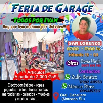 """Zona del Mercado: Hoy sábado Feria de Garage """"todos por Ivan"""""""