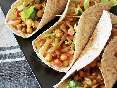 Burritos rapiditos con pollo y garbanzo para probar algo nuevo