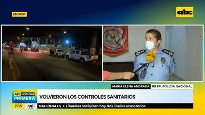 """Volvieron los """"controles sanitarios"""" realizados por la Policía"""