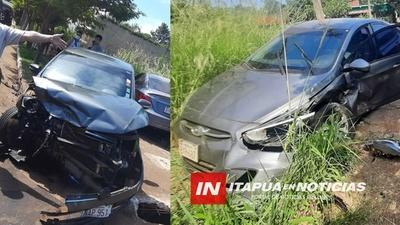 VIOLENTO ACCIDENTE DE TRÁNSITO SOBRE AVDA. LA PAZ DE SAN FRANCISCO, CAMBYRETÁ.