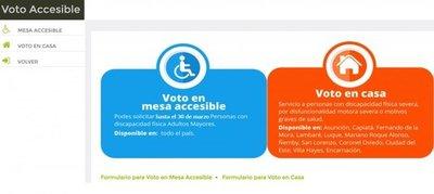 Interesados en Voto en Casa y Voto en Mesa Accesible pueden solicitar inclusión hasta el 30 de marzo