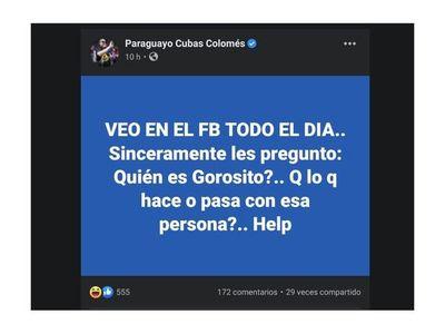 Payo preguntó quién es Gorosito y armó guarará en Facebook