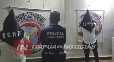 DETIENEN A GUARDIA DE SEGURIDAD POR SUPUESTAS COMPRAS CON TARJETAS AJENAS EN LA CAPITAL.