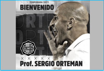 Sergio Orteman, nuevo técnico de Olimpia