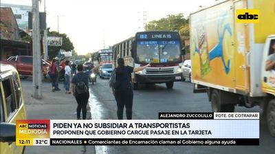 Piden ya no subsidiar a transportistas