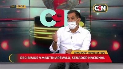 Recibimos al senador Martín Arévalo, precandidato para la intendencia de Asunción