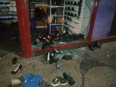 Comercios del microcentro capitalino fueron atacados después de las manifestaciones