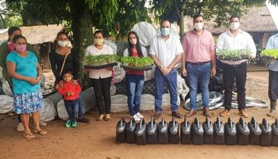 Ministerio de Desarrollo, entregó insumos a familias de Tekoporã en Guairá