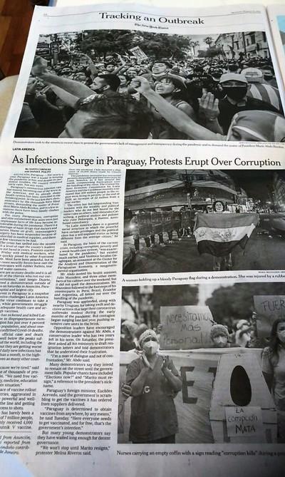 Prensa mundial expone perfil corrupto e inepto de Marito que avergüenza al Paraguay