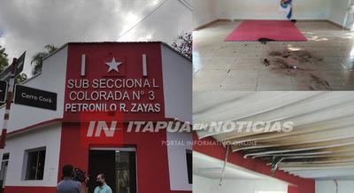 CON BOMBA MOLOTOV ATACARON SUBSECCIONAL EN ENCARNACIÓN.