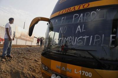 """El presidente de Perú: la huelga de transporte """"se solucionara de una u otra forma"""""""