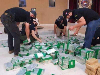 Cocaína incautada por Senad en Fuerte Olimpo totalizó 574,8 kilos