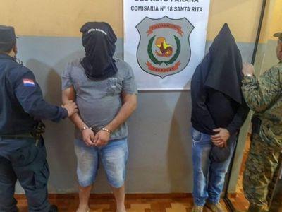 Dos brasileños detenidos por asesinato de guardia en Santa Rita