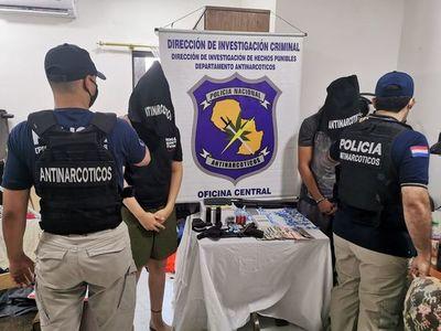 Allanan en Asunción una casa en donde se vendía cocaína al menudeo