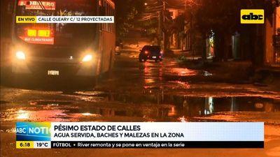 Pésimo estado de calles en el barrio Tacumbú