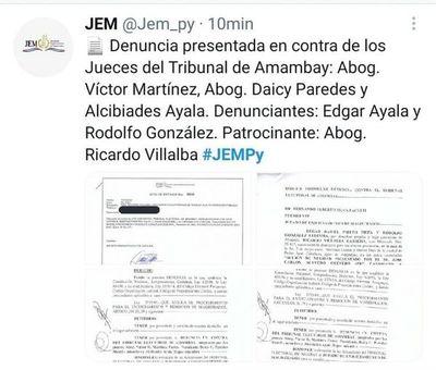 Jurado de Enjuiciamiento investigará a Jueces del Tribunal Electoral de Amambay por habilitar 4ª periodo a intendente Jose C. Acevedo