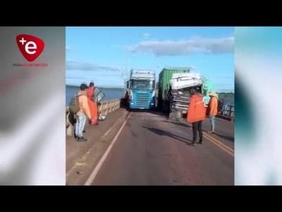 TRIPLE ACCIENTE DE CAMIONES DEJA IMPORTANTES DAÑOS EN CARMEN DEL PNÁ
