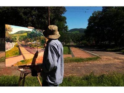 Pintando Paraguay, de la mano del artista Juan de Dios Valdez