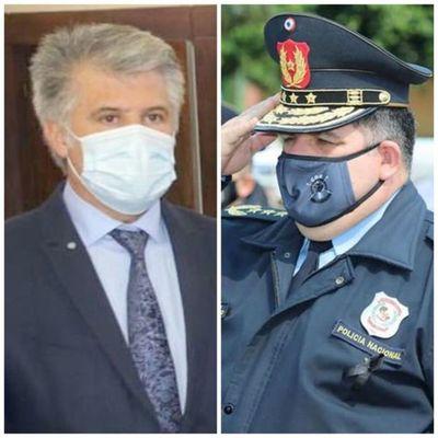Marito debe elegir entre ministro del Interior y el comandante de la Policía