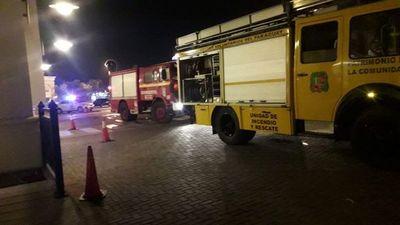 Panadería de supermercado sufrió principio de incendio anoche