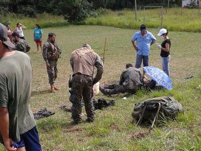 Camión de la FTC vuelca en Yby Yaú y militares quedan heridos